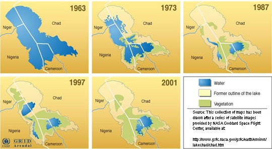 Disappearence of lake Chad